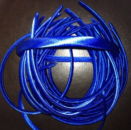 10MM ROYAL BLUE SATIN COVERED HEADBAND